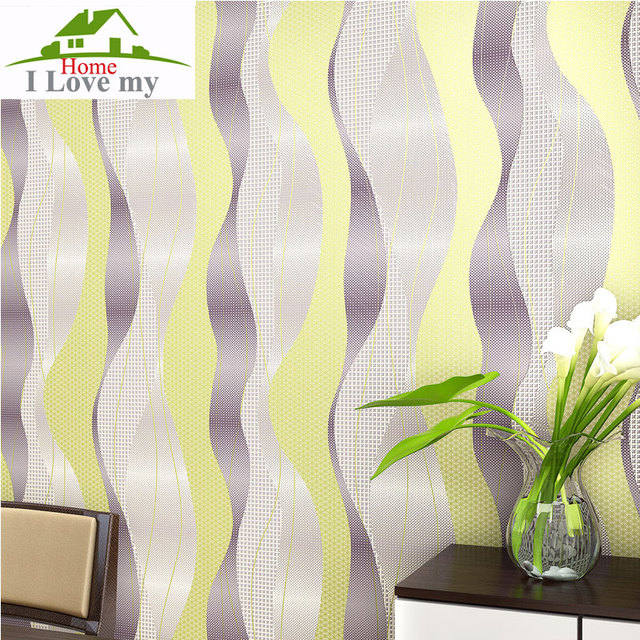 Curve modern wallpaper for walls 3d wall paper for living rooms ikea ...