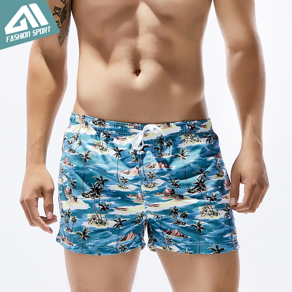 Seobean Summer Pattern Men's   Board     Shorts   13in Fixed Waist Swim Trunk Holiday Beach Fast Dry Men Swimming   Shorts   SE82
