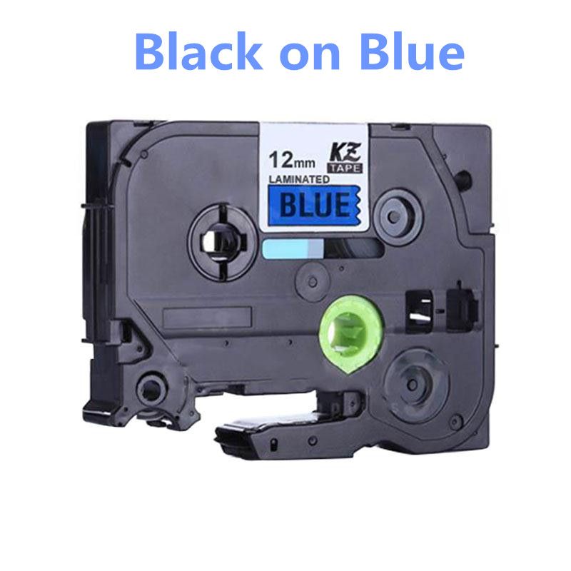Standard Black on Blue Laminated Label Tape Compatible For Brother TZ-231 TZ 231 Labelers 12mm