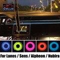 Новый EL Провода Для Daewoo Lanos/Sens/Alpheon/Nubira/Украшение автомобиля Холодный Свет Лампы Атмосфера/9 М Набор/СДЕЛАЙ САМ