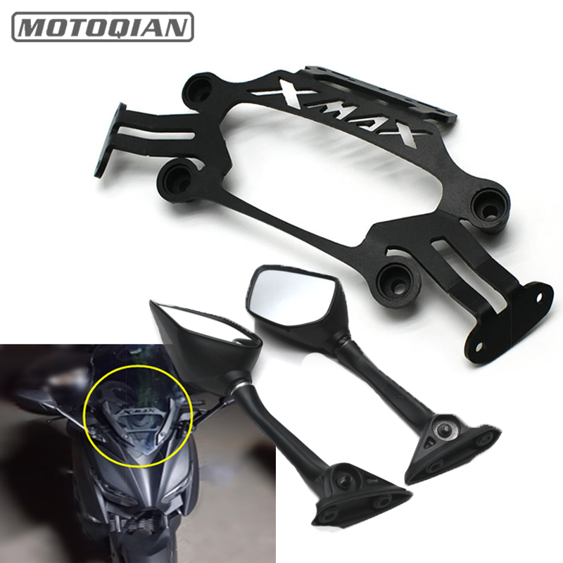 Motorcycle Modified Front Stand Holder Smartphone Mobile Phone Bracket GPS Plate Mirror Bracket For Yamaha XMAX X-MAX 250 300 motorcycle modified front stand holder smartphone mobile phone bracket gps plate mirror bracket for yamaha xmax x max 250 300
