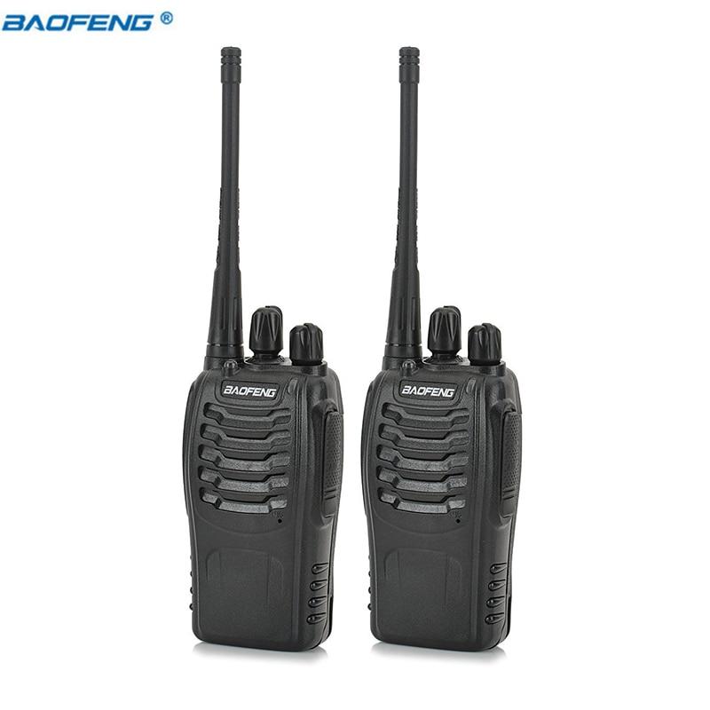 2pcs Walkie Talkie Baofeng BF 888S 5W 16CH UHF400 470MHz Baofeng 888S Ham Radio HF Transceiver