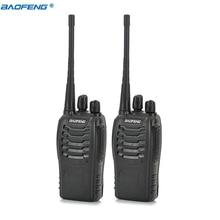 2pcs Walkie Talkie Baofeng BF-888S 5W 16CH UHF400-470MHz Baofeng 888S Ham Radio HF Transceiver Two Way Radio Amador Portable