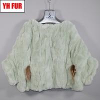 Fashion Girls Real Rex Rabbit Fur Pashmina Genuine Real Rex Rabbit Fur Poncho Scarfs Warm Soft 100% Rex Rabbit Fur Shawl Scarves