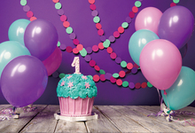 все цены на Laeacco Wooden Board Baby 1st Birthday Balloon Cake Photography Backgrounds Customized Photographic Backdrops For Photo Studio онлайн