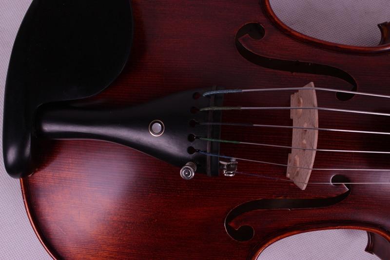 6 string 4/4 Violin Ebony parts Flame Maple Back Antique Varnish Spruce Master Powerful Sound Pro+601 2 pcs new 4 4 unfinished violin flame maple back russian spruce top