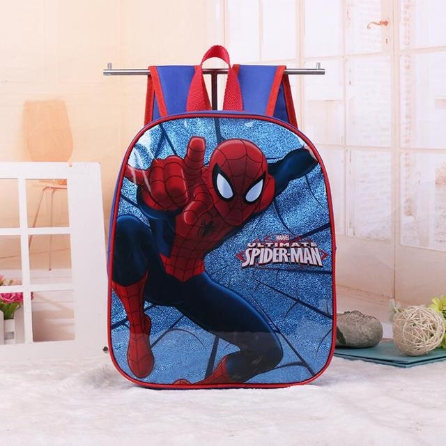New Kids Cartoon Spiderman Schoolbag Baby Girls Lovely Pirncess
