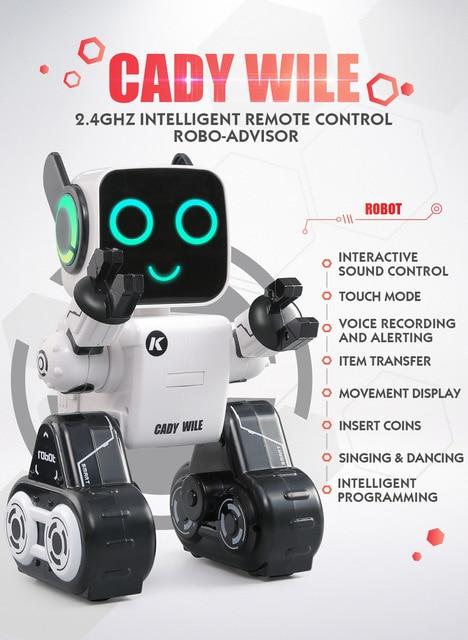 2 4GHZ INTELLIGENT REMOTE CONTROL ROBO ADVISOR Smart Remote Control Robot Toy man Electronic Pet Animal