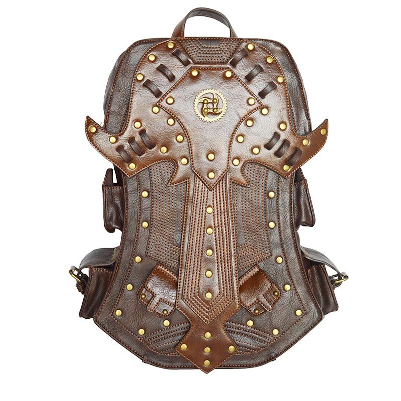 2017 Halloween Backpack Women Fashion Gothic Retro Rock bag High Quality PU Leather Vintage Womens Bag sac a dos