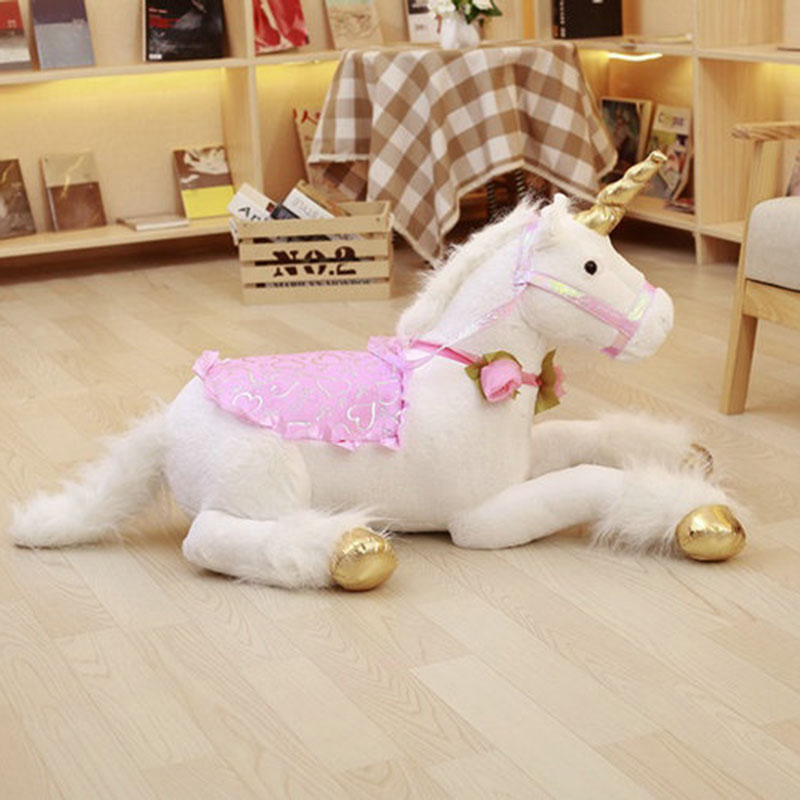 90cm unicorn plush toys stuffed animal plush doll home decor giant unicorn toy girl's toy birthday christmars gift for kid stuffed animal 90 cm plush dolphin toy doll pink or blue colour great gift free shipping w166