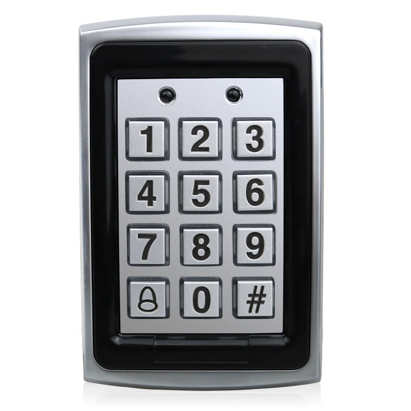 IP65 Metal Case RFID 125KHz Keypad Single Door Stand-alone Access Control with 2000 Users Waterproof good quality metal case face waterproof rfid card access controller with keypad 2000 users door access control reader