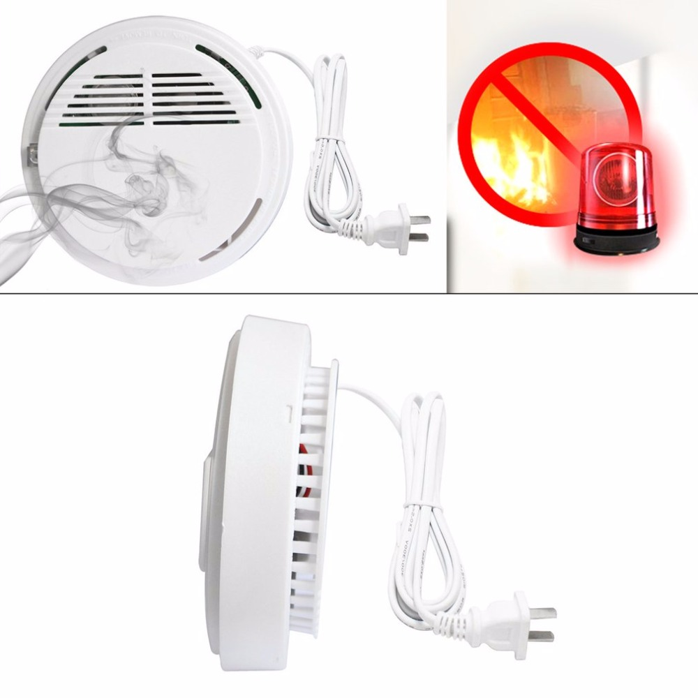 Ceiling Mounted Alarm Combustible Gas Detector Network Sound-light Alarm Smoke Detector Security Alarm System Fire Protection the ivory white european super suction wall mounted gate unique smoke door