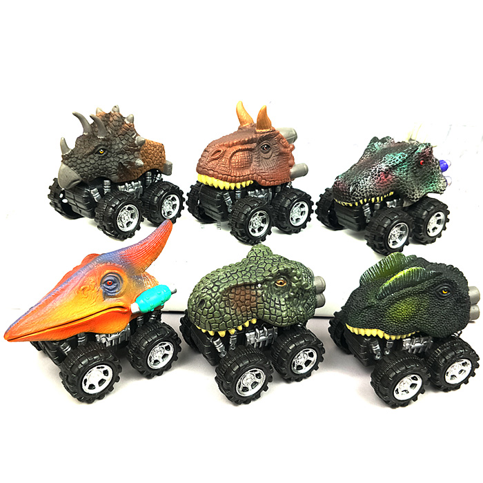 6 шт 6 стилей высокое качество детский день подарок игрушка динозавр модель мини игрушка автомобиль назад автомобиля подарок грузовик хобби - Цвет: 6 pcs Dinosaur