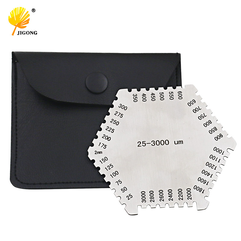 High precision hexagon stainless steel Wet film comb 25-3000um wet film thickness gauge new high precision digital micrometer precision thickness gauge 0 12 7mm 0 001mm paper film fabric tape thickness measurement