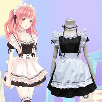 Japanese Anime Cosplay Costume Cute Women Halloween Party Costume Vestidos Lolita Dresses for Women Maid Dress Clothes