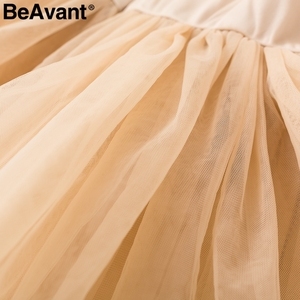 Image 5 - BeAvant Off shoulder womens tops and blouses summer 2019 Backless sexy peplum top female Vintage ruffle mesh blouse shirt blusas