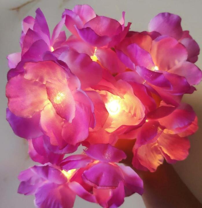 decoration LED flower string light holiday battery box lamp string 2m 10led