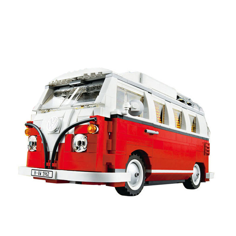 ФОТО 2016 New 21001 1354Pcs Creator Volkswagen T1 Camper Van Model Building Kit  Block Bricks Toys for Children