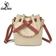 2641c1f415 INONE Ladies Hand Bags Vegan Leather Bucket Women Messenger Shoulder Bag  Crossbody 2 in 1 Purse