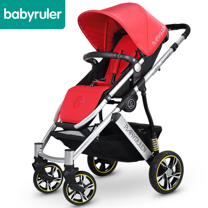 Babyruler baby stroller baby car baby portable folding child cart shock absorbers baby stroller ultra light portable folding cart shock absorbers car umbrella bb baby child small baby car