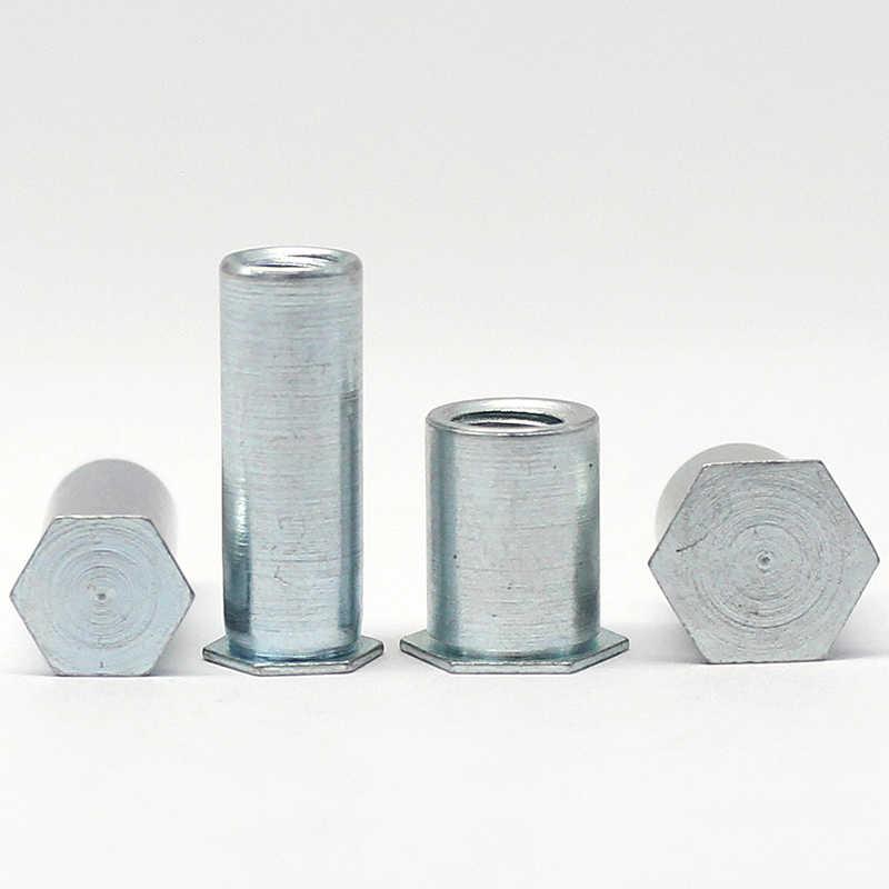 BSO kör delik basınç perçinleme saplama/galvanizli karbon çelik altıgen kör delik somun perçin sütun M4