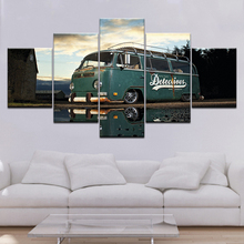 Modern Artwork Home Wall Art Decor Frame Pictures HD Prints 5 Pieces Retro Volkswagen Bus Car Painting On Canvas Poster