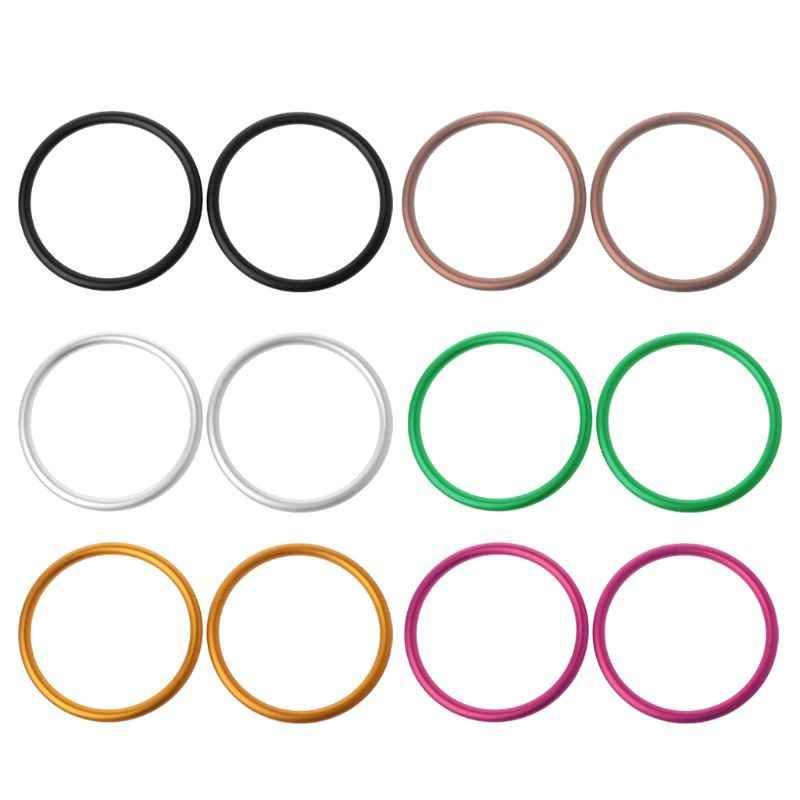 2 unids/set portabebés anillos de aluminio para bebé portabebés y Baberos accesorios de portabebés de alta calidad