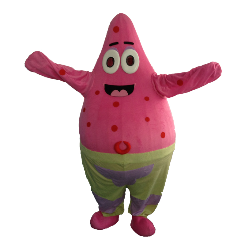 Free Shipping! christmas costumes cosplay halloween Patrick Star Mascot Costume Characters Costume