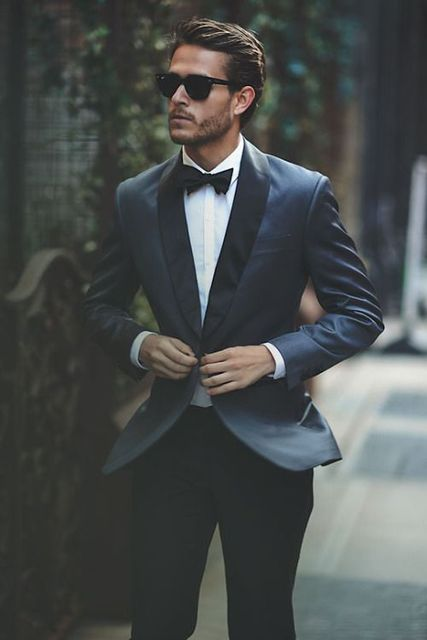 Latest Coat Pant Designs Navy Blue Black Wedding Suits for Men Slim Fit 2  Piece Custom Blazer Formal Suits Groom Tuxedo Vestidos 9bcc3865d3c