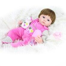42 cm silikon reborn baby doll dzieci playmate prezent dla dziewczyny dziecko żywe miękkie doll toys na bukiety bebe reborn
