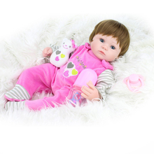 42cm Silicone Reborn Baby Doll kids Playmate Gift For Girls Baby Alive Soft Toys For Bouquets Doll Bebe Reborn