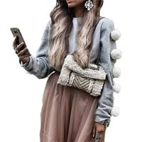 Women Hoodies Casual Sweatshirt Pullover Plush Ball Coat Jacket Outwear Tops American Apparel Autumn Winter Plus