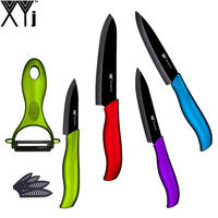 Top Sale Handmade Cooking Tools Chinese XYJ Brand Multi Colors Handles Kitchen Knives 3 4 5