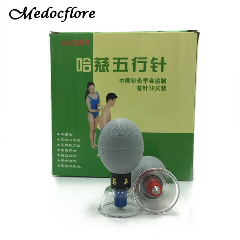 8/12/18 pcs Acupressure Suction Cupping Set Therapy -Chinese Medicine Massage Acupuncture magnetic therapy set Vacuum Cupping 12pcs cups 6pcs magnetic needle extension tube pump chinese modern vacuum healthy cupping set massage therapy suction apparatus