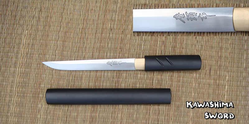 Para zatochi japonés Shirasaya Samurai Katana Tanto espada afilada Real 1045 abrecartas de acero al carbono-cuchillos pequeños
