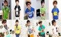 Размер 100 ~ 140 Ребенок Вершины тройники девушки одежда дети футболки для мальчиков с коротким рукавом футболки распродажа
