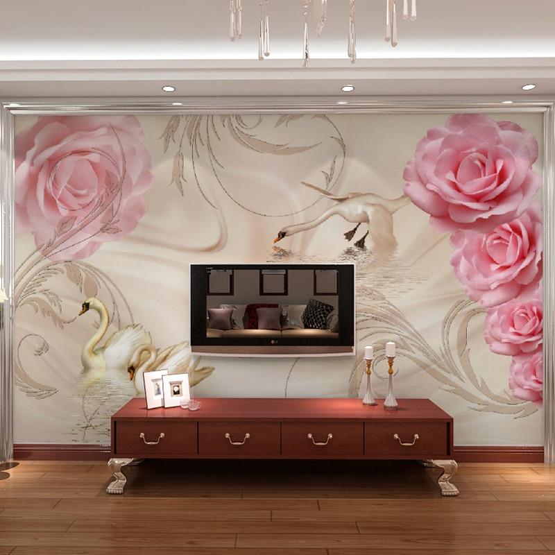 Popular pink rose wallpapers buy cheap pink rose for 3d rose wallpaper for bedroom