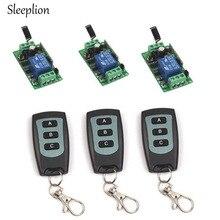 Sleeplion Home DC 12V 1CH Channel Wireless RF Waterproof Remote Control 3 3-key Switch Transmitter+3 Receiver Adapter