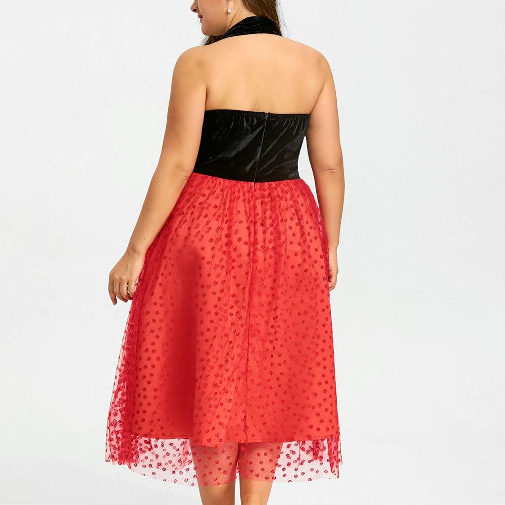 Chamsgend Весна Для женщин платья для девочек плюс Размеры бархат империи Гренадин Лоскутная Холтер спинки Холтер Вечерние Платье 180125