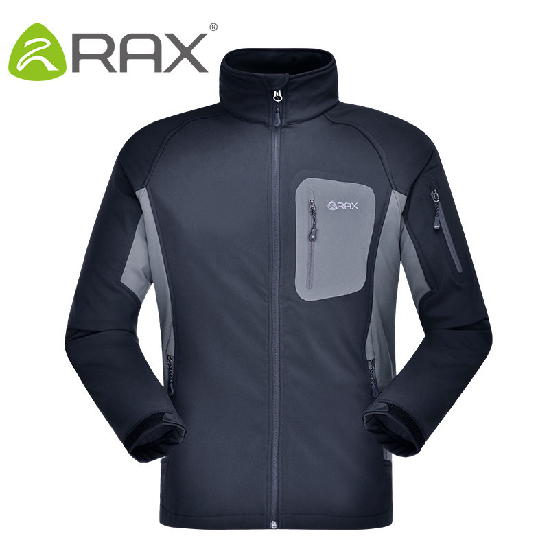 RAX Windproof Waterproof Hiking Jacket Men Breathable fleece softshell Jacket Men Waterproof Softshell Men Warm camping Jacket free shipping three phase avr diesel generator suit for the more generator automatic voltage regulator
