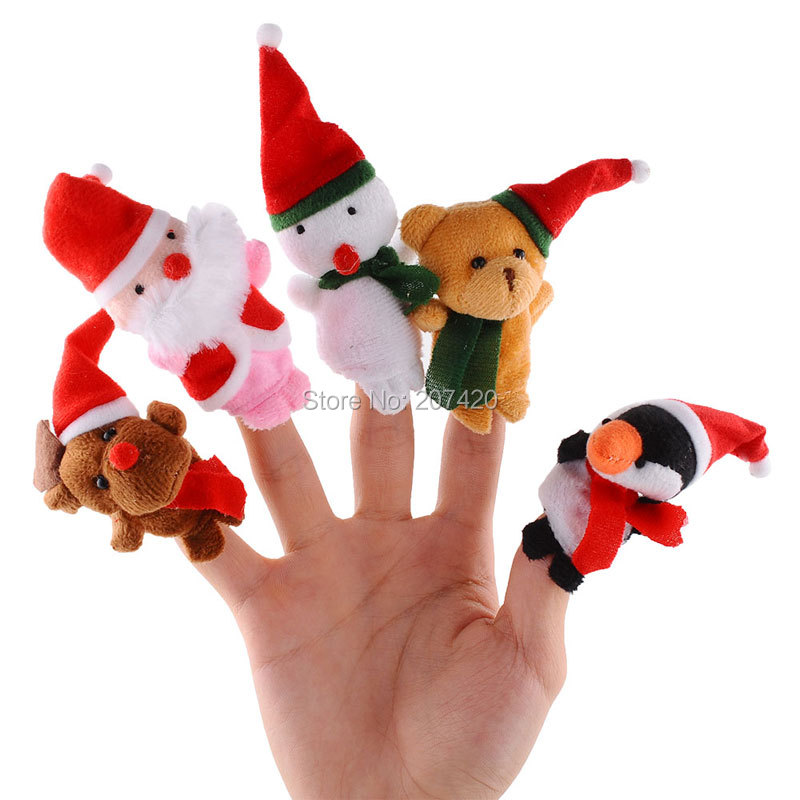 Toys & Hobbies Dolls & Stuffed Toys 100pcs/set Wholesale Hot Selling Christmas Finger Puppets Santa Claus Snowman Deer Bear Penguin Plush Toys Dolls Relieving Heat And Thirst.