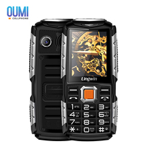 "New Lingwin N2 Waterproof Outdoor Phone 2.4"" Dual Flash Light Dustproof Big Speaker 3100mAh Power Bank Dual SIM Shockproof Phone"