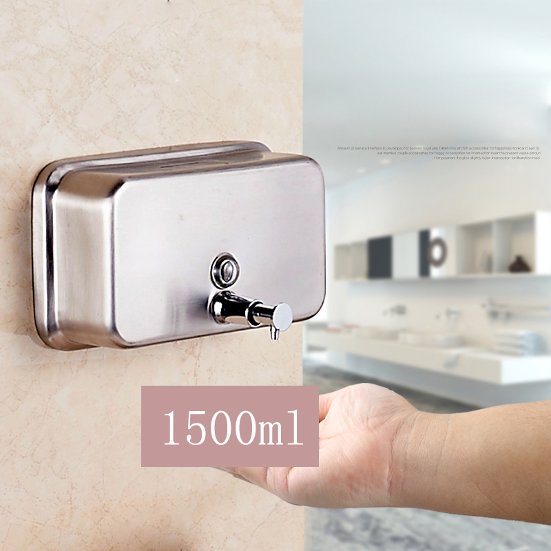 free shipping stainless dispenser 1500ml wall mounted chromechina