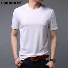 COODRONY T Shirt Men Summer Casual All-match T-Shirt Short Sleeve O-Neck Tee Cotton Solid Color Bottoming S95039