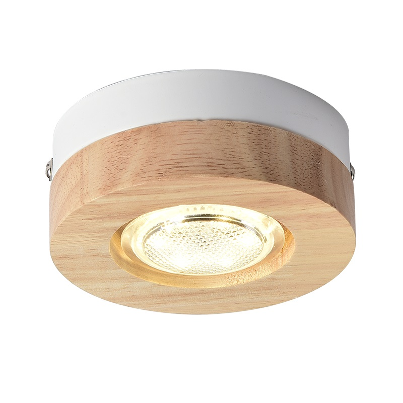 Led Ceiling Lamps Wooden Lights