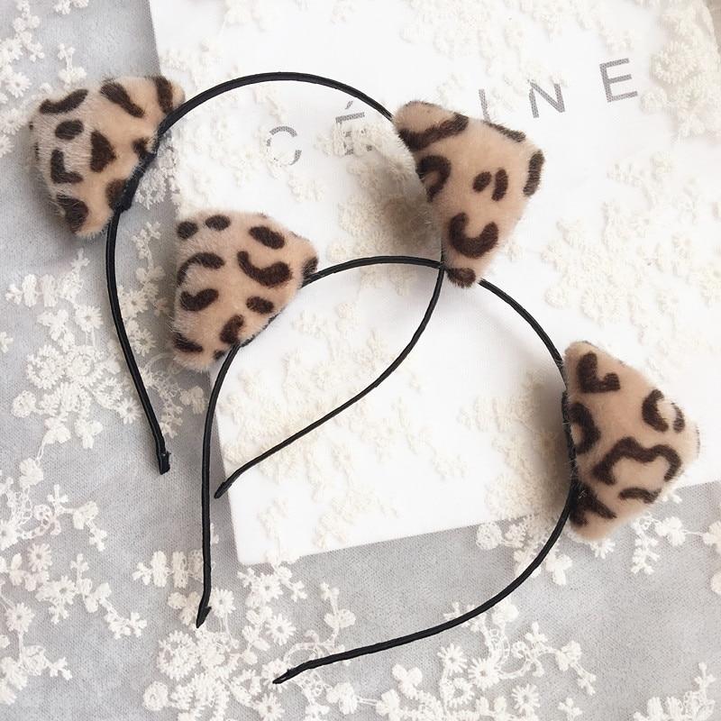 ₪Corea peludo leopardo orecchiette Bandas para la cabeza Accesorios ...