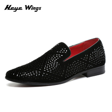 British summer new barber diamond loafers popular hot sale casual shoes men