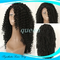 lace fronte sintetica wig black afro kinky curly synthetic lace front wig heat resistant natural black curly wig for black women