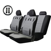 2016 Brand Tirol T20634 13PCS Car Seat Cover Faux Leather Front Rear Covers Wheel Seat Cover
