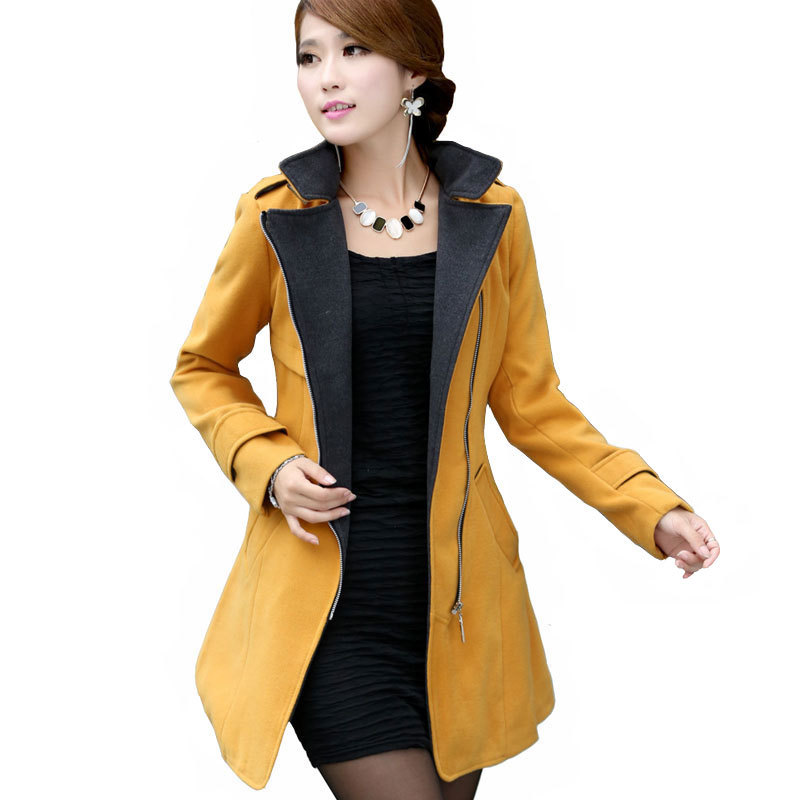 New 2015 women wool coat women's designer wool winter coats white ...